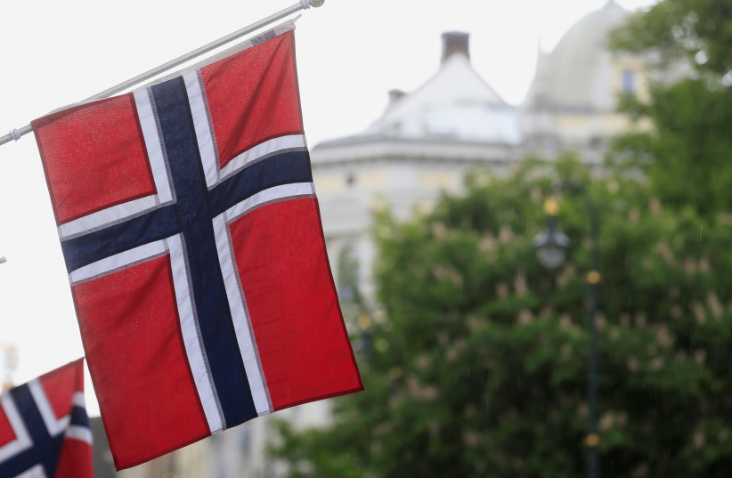 Norwegian flags flutter at Karl Johans street in Oslo, Norway May 31, 2017. (photo credit: REUTERS)