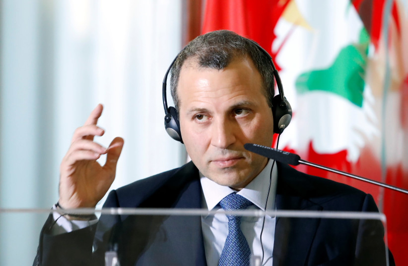 Lebanese Foreign Minister Gebran Bassil attends a meeting with Italian counterpart Angelino Alfano in Rome (photo credit: REMO CASILLI/ REUTERS)