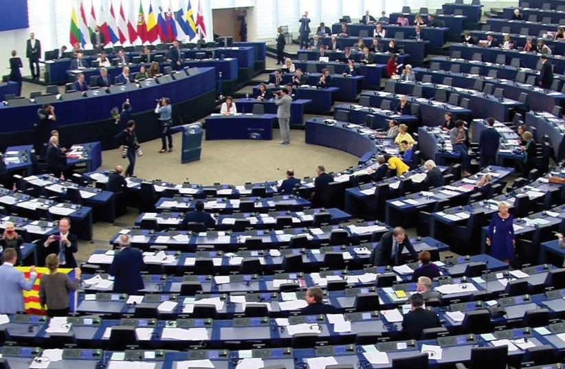 MEMBERS OF the European Parliament meet in Strasbourg. (photo credit: REUTERS)