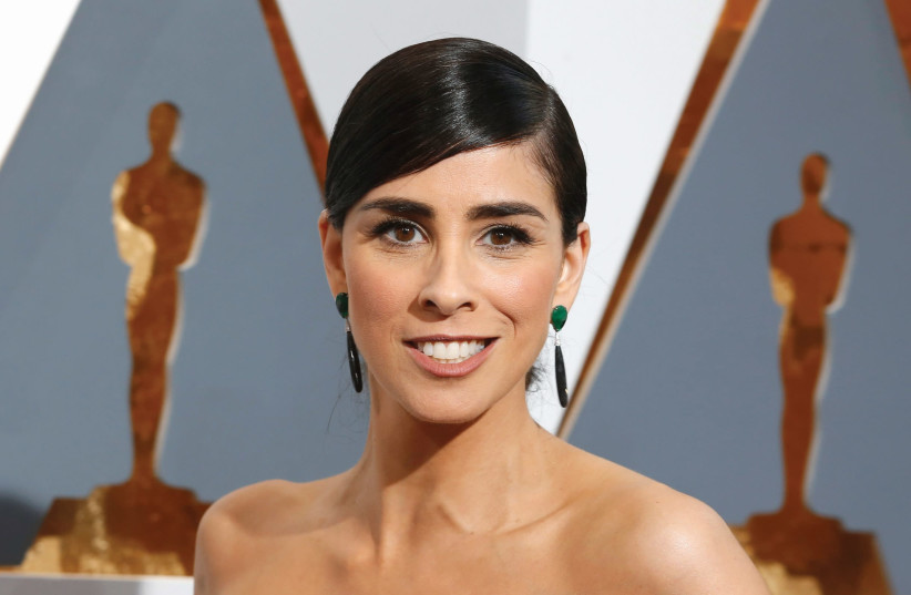 SARAH SILVERMAN arrives at the Academy Awards in Hollywood last year - consistently great in 'I Love You, America.' (photo credit: ADREES LATIF/REUTERS)