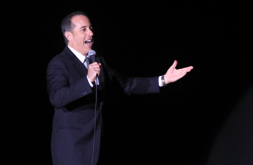 Jerry Seinfeld performs in Tel Aviv (photo credit: SIVAN FARAG)