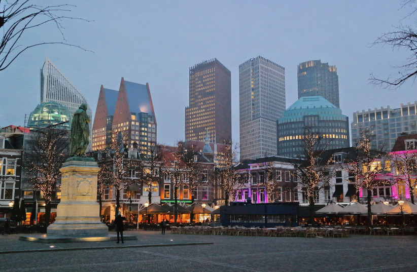 The Hague in winter (photo credit: STEVEN LEK / WIKIMEDIA COMMONS)