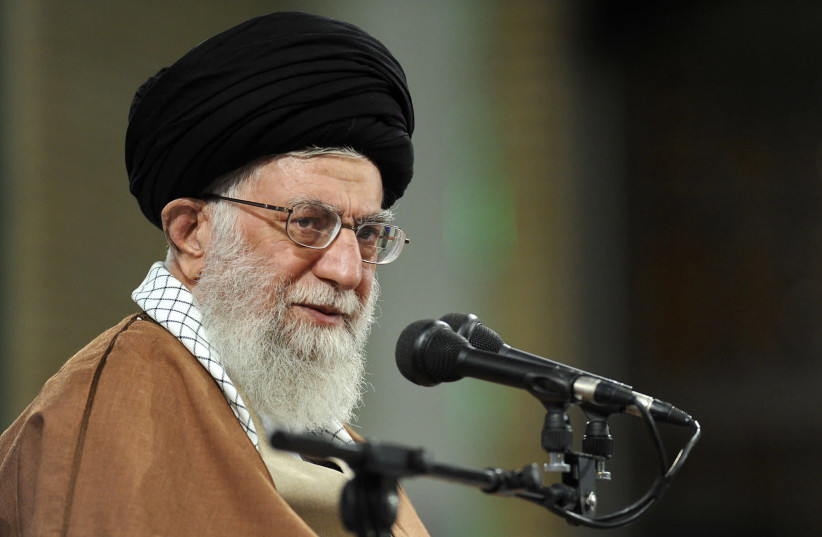 Iran's supreme leader Ayatollah Ali Khamenei (photo credit: AFP PHOTO / HO / KHAMENEI.IR)