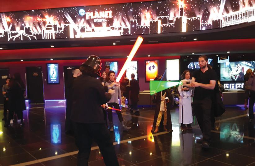 'The Last Jedi' on opening night in Jerusalem (photo credit: BEN BRESKY)
