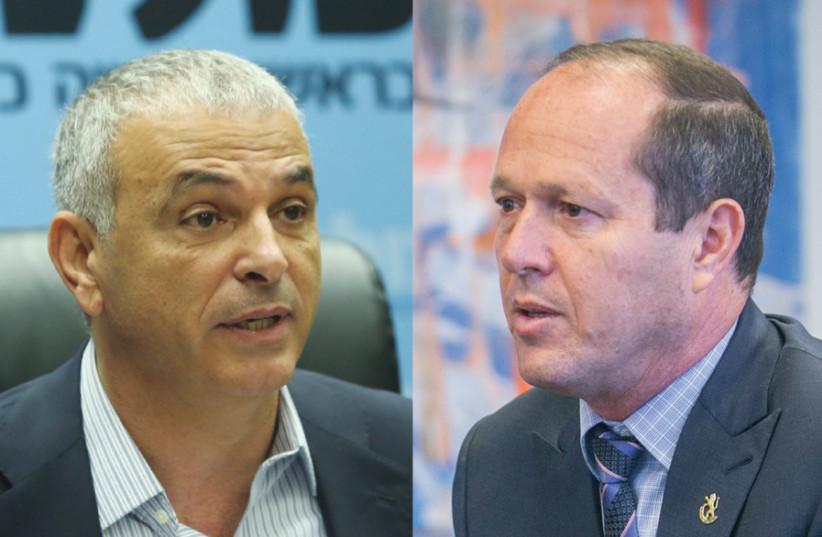 Finance Minister Moshe Kahlon and Mayor Nir Barkat (photo credit: MARC ISRAEL SELLEM)