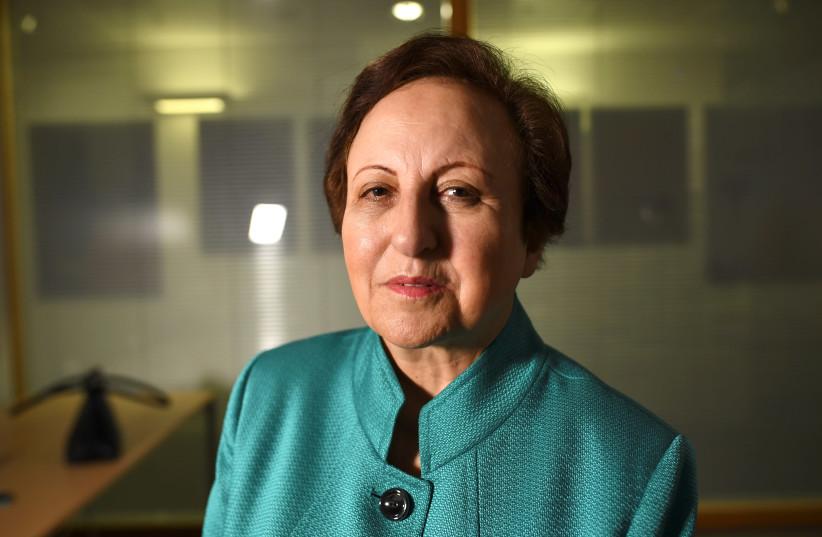 Iranian Nobel Peace laureate Shirin Ebadi speaks during an interview in London, Britain, January 4, 2018.  (photo credit: REUTERS)
