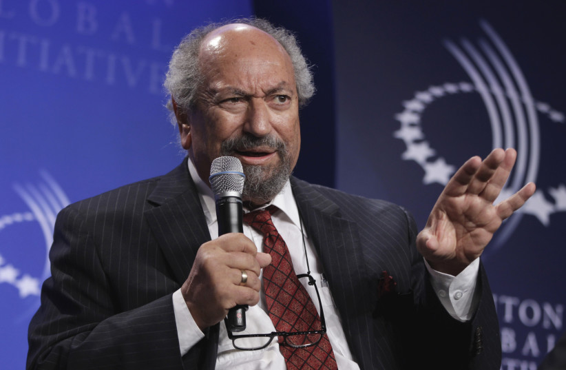 Saad Eddin Ibrahim speaks on a panel during the Clinton Global Initiative in New York, September 21, 2011.  (photo credit: REUTERS)