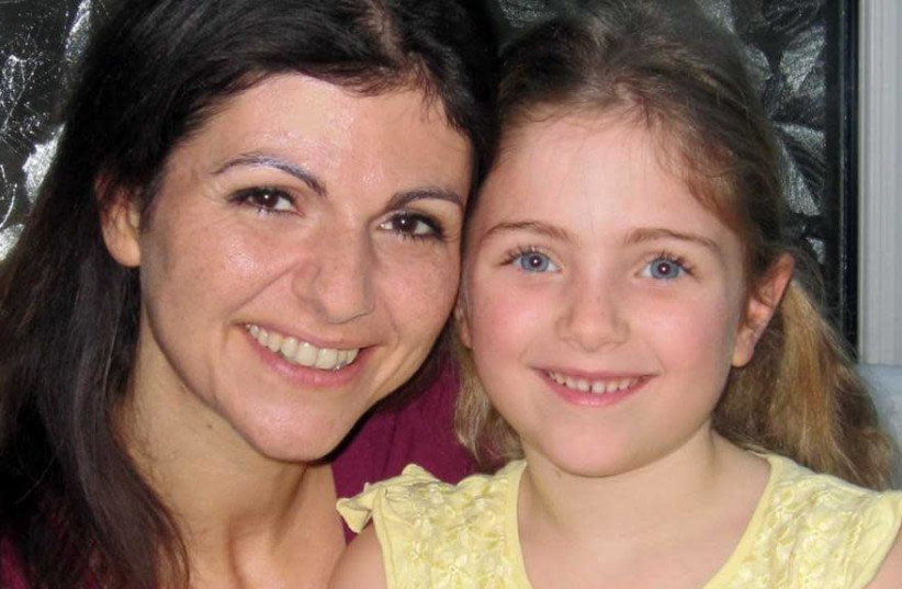 Six-year-old Kyra pictured with her mother, Rima Warrell. (photo credit: Courtesy)