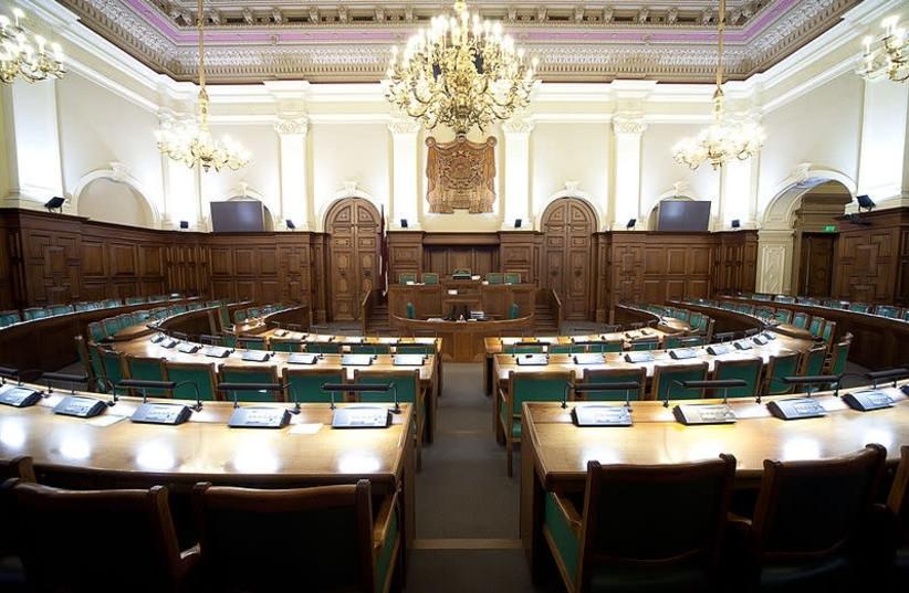 The Saeima, Lativa's Parliament in Riga (photo credit: Wikimedia Commons)