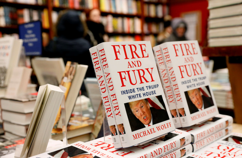 Copies of the book 'Fire and Fury: Inside the Trump White House' by author Michael Wolff are seen at the Book Culture book store in New York, US. (photo credit: REUTERS)