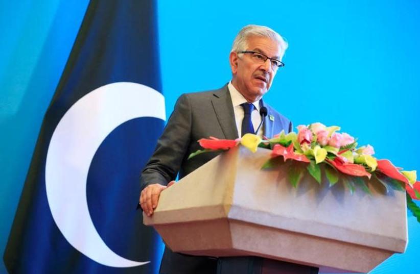 Pakistani Foreign Minister Khawaja Asif (photo credit: REUTERS/JASON LEE)