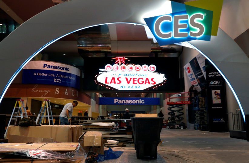 A view of the Las Vegas Convention Center lobby (photo credit: STEVE MARCUS/REUTERS)