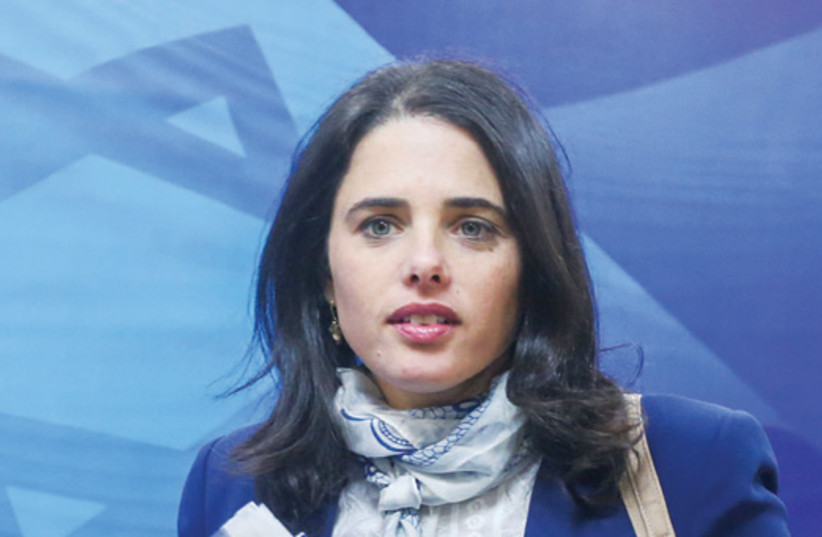 Justice Minister Ayelet Shaked (photo credit: MARC ISRAEL SELLEM)
