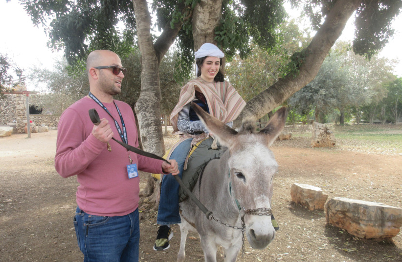 Special-needs young adults on Birthright trip (photo credit: PR)