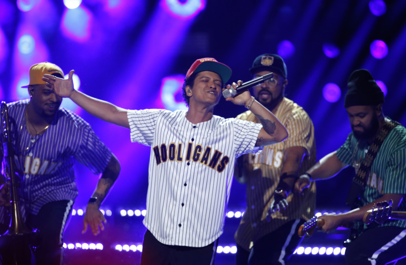 Bruno Mars performs at the 2017 BET Awards (photo credit: REUTERS)