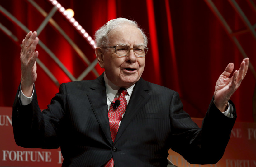 Warren Buffett, chairman and CEO of Berkshire Hathaway (photo credit: KEVIN LAMARQUE/REUTERS)