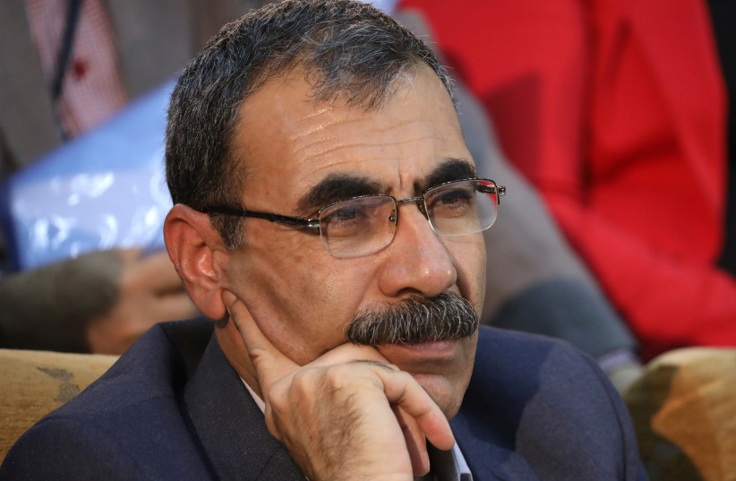 Aldar Khalil, a Kurdish politician is seen in the town of Rmeilan, Hasaka province, Syria September 27, 2017. Picture taken September 27, 2017. (photo credit: RODI SAID / REUTERS)