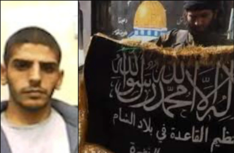 Hassan Taher Shir Yusuf (left) was arrested for carrying out pro-ISIS activities (photo credit: SHIN BET/SCREENSHOT)