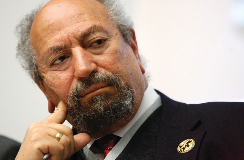 Saad Eddin Ibrahim, sociologue égyptien défenseur des droits de l'homme (photo credit: DENIS BALIBOUSE / REUTERS)