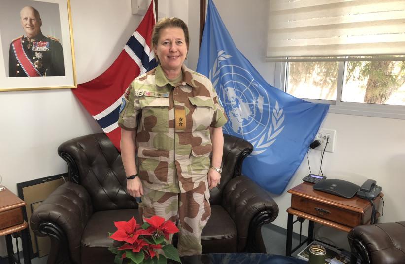 Maj.-Gen. Kristen Lund in the UNTSO offices in Jerusalem. (photo credit: ANNA AHRONHEIM)