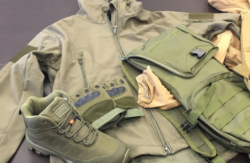 Military-style clothes detected by Israeli custom officials en-route to Gaza  (photo credit: ISRAEL TAX AUTHORITY/ASHDOD CUSTOMS)