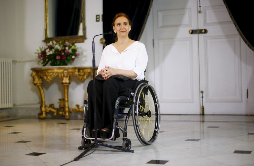 Argentina's Vice President Gabriela Michetti in Chile.  (photo credit: REUTERS)