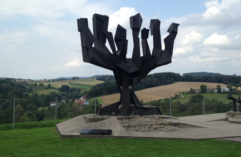 Israel's memorial at the Mauthausen concentration camp in Austria (photo credit: SHOSHANA KRANISH)