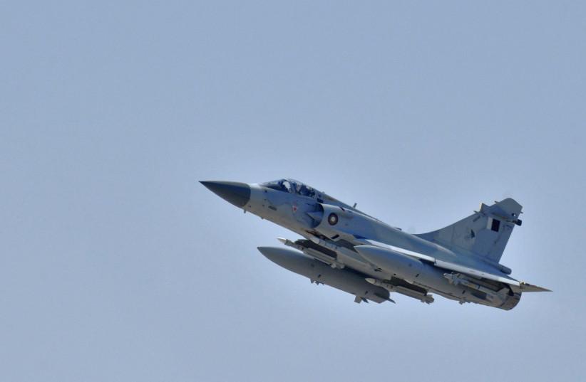 A Qatar Emiri Air Force Dassault Mirage 2000-5 fighter jet. (photo credit: HANDOUT/REUTERS)