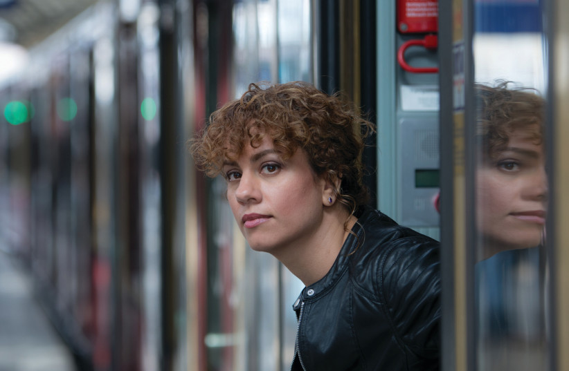The writer on Berlin's S-Bahn train (photo credit: PR)
