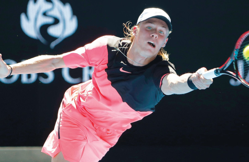 ISRAEL-BORN 18-year-old Canadian Denis Shapovalov (above) was defeated in five-sets by South Africa's Jo-Wilfried Tsonga yesterday, falling 3-6 6-3 1-6 7-6(4) 7-5 in an instant classic. Playing in only his third Grand Slam – and first time in Melbourne – Shapovalov would have been a worthy winner ha (photo credit: REUTERS)