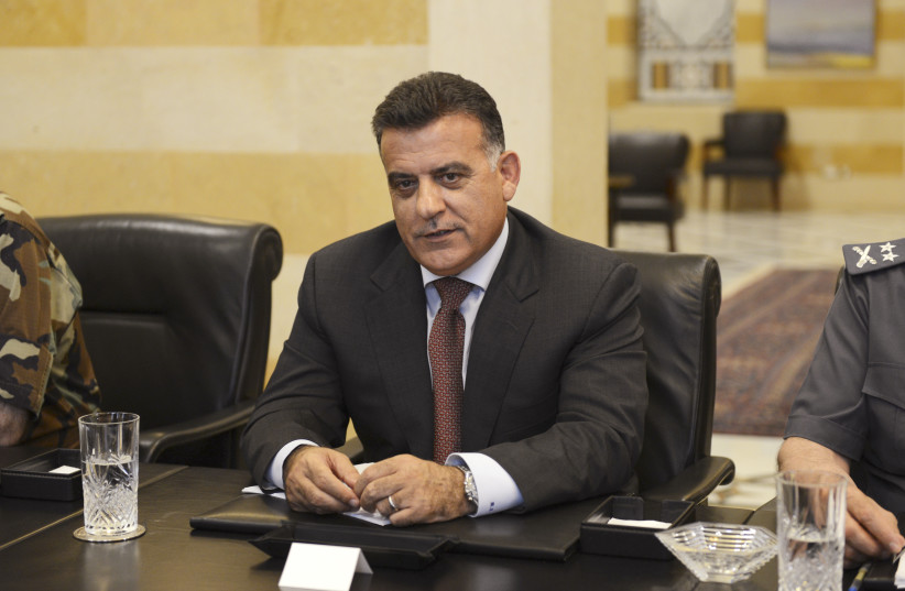 Major General Abbas Ibrahim, head of Lebanon's Directorate of General Security (DGS), attends an urgent security meeting with leaders of government security agencies. (photo credit: REUTERS)