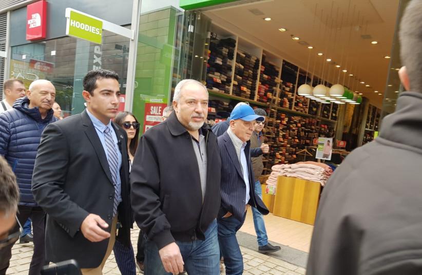 Defense Minister Avigdor Liberman in Ashdod, January 20, 2018 (photo credit: Courtesy)