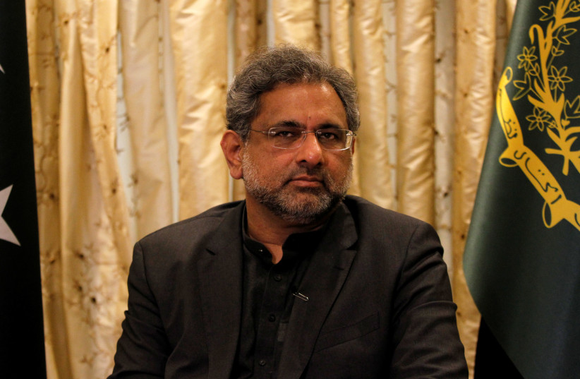 Pakistani Prime Minister Shahid Khaqan Abbasi speaks during an interview in Islamabad, Pakistan. (photo credit: REUTERS)