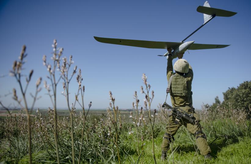 The IDF's Skylark drone (photo credit: IDF SPOKESPERSON'S OFFICE)