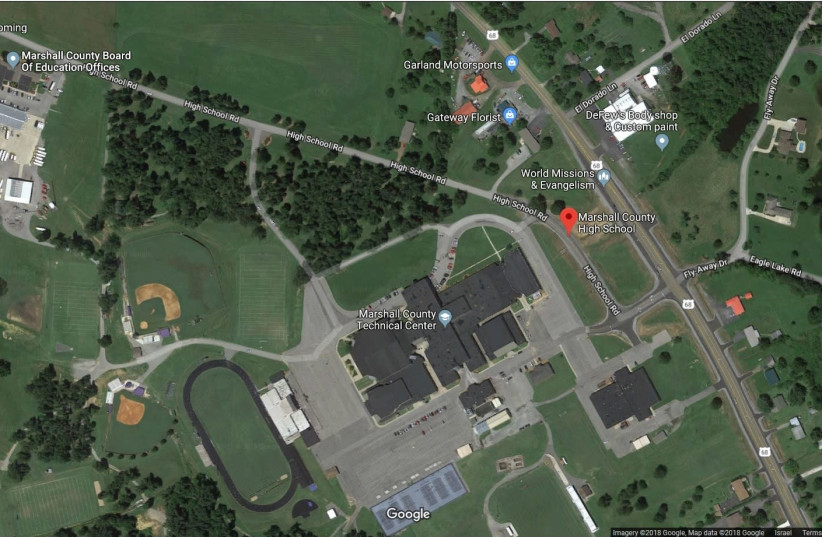Marshall County High School. (photo credit: SCREENSHOT FROM GOOGLE MAPS)