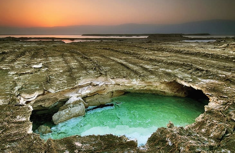 The Dead Sea as photographed  by Leonid Padrul  (photo credit: LEONID PADRUL)