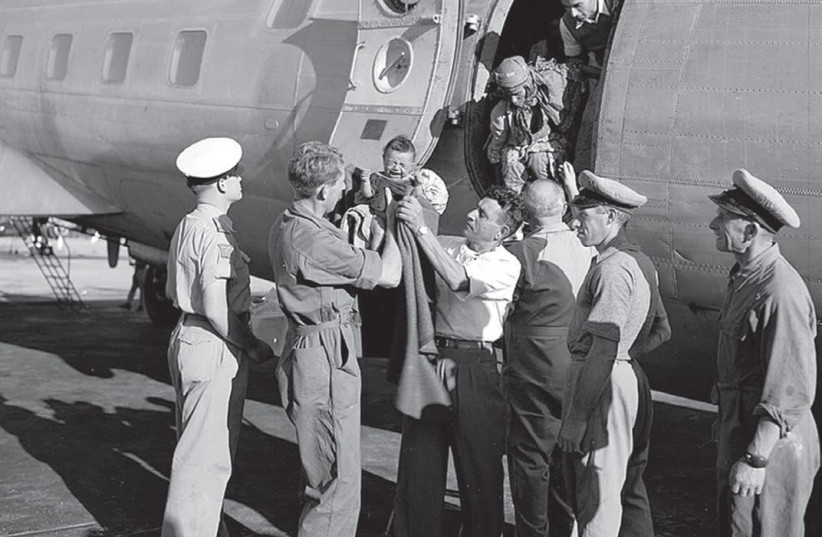 JEWISH AGENCY representatives meet Yemenite immigrants arriving at Lod Airport in 1949. (Wikimedia Commons) (photo credit: Wikimedia Commons)