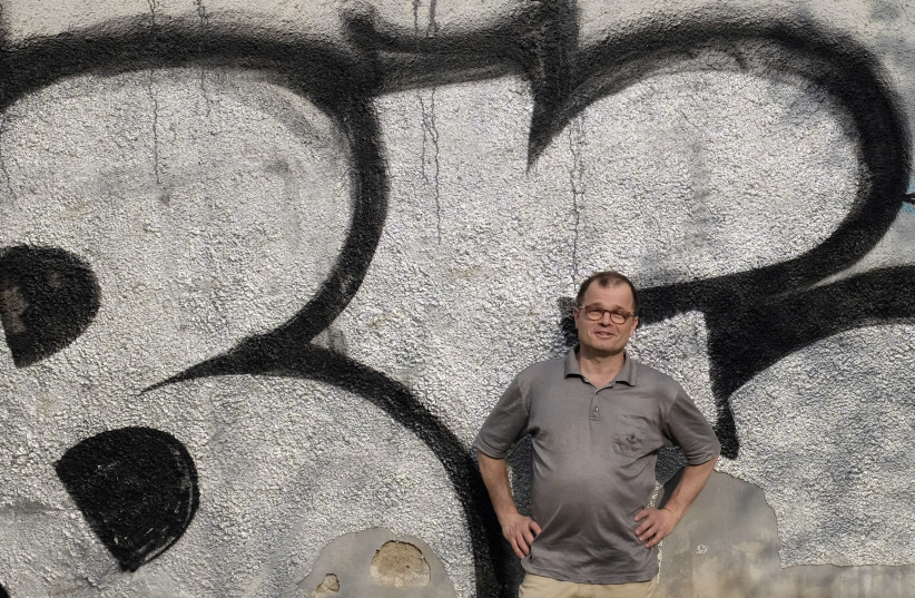 Stephan Templ poses for a photograph in Prague April 4, 2014. (photo credit: DAVID W. CERNY / REUTERS)