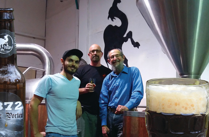 The Dancing Camel Brewery in Tel Aviv launched its version of 1872 Baltic Porter, an Israeli-German collaboration beer (photo credit: Courtesy)