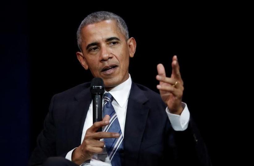 Former US president Barack Obama (photo credit: REUTERS/BENOIT TESSIER)