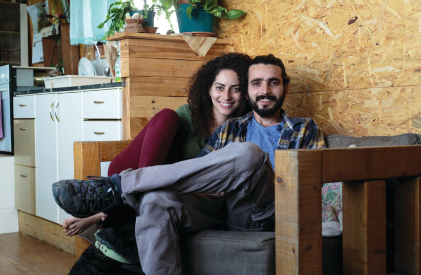 Esti and Bnaya Ben-David have been living in a 36-square-meter bus for almost two years (photo credit: BNAYA BEN-DAVID)