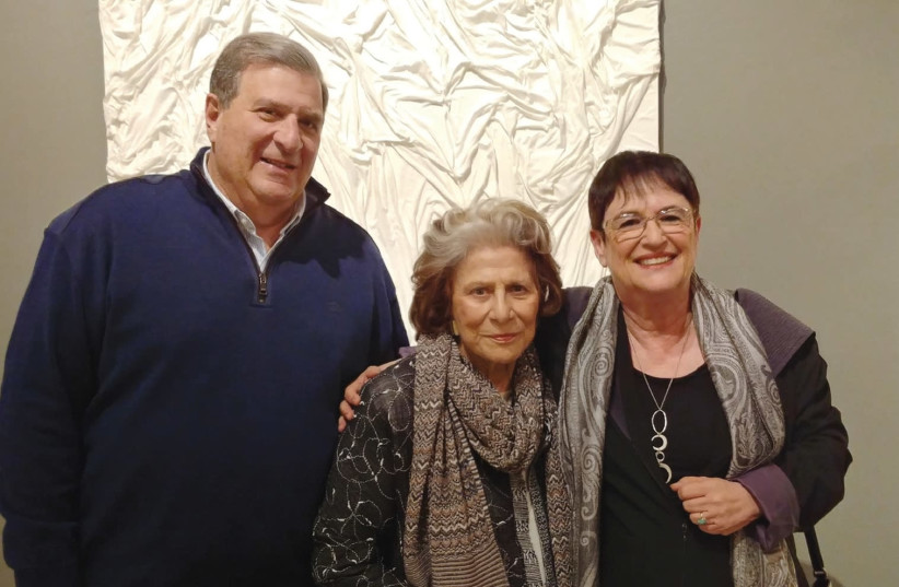 FROM LEFT: Udi and Dina Recanati with Ruthie Ofek. (photo credit: COURTESY TEFEN MUSEUM)