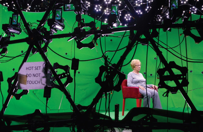 Eva Schloss went through an intense and emotional interview process, where she sat in a 360-degree 'light stage' contraption that she calls 'the cage.' (photo credit: Courtesy)