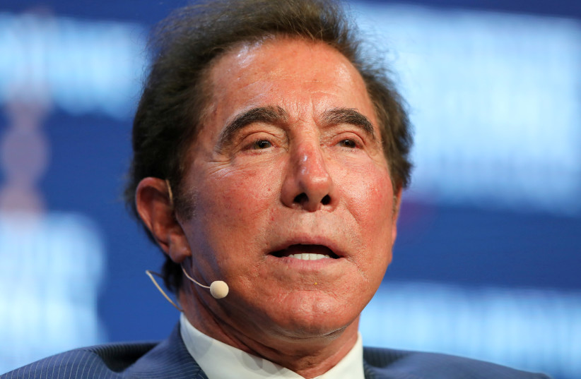 Steve Wynn, Chairman and CEO of Wynn Resorts, speaks during the Milken Institute Global Conference in Beverly Hills, California, US. (photo credit: REUTERS)