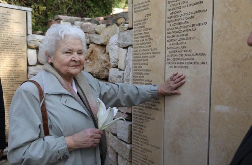 Alicja Mularska at Yad Vashem in Jerusalem  (photo credit: NOAM REVKIN FENTON/ YAD VASHEM)
