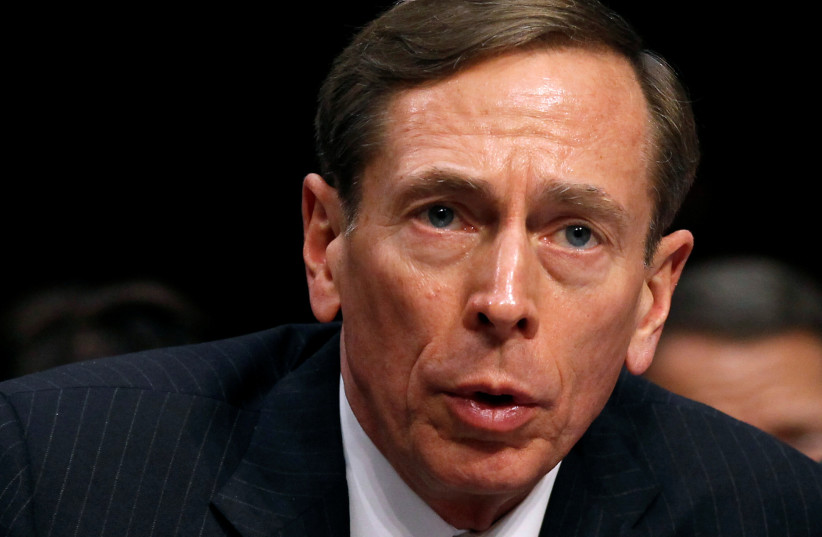"""CIA Director David Petraeus speaks to members of a Senate (Select) Intelligence hearing on """"World Wide Threats"""" on Capitol Hill in Washington in this January 31, 2012 file photo. (photo credit: REUTERS)"""