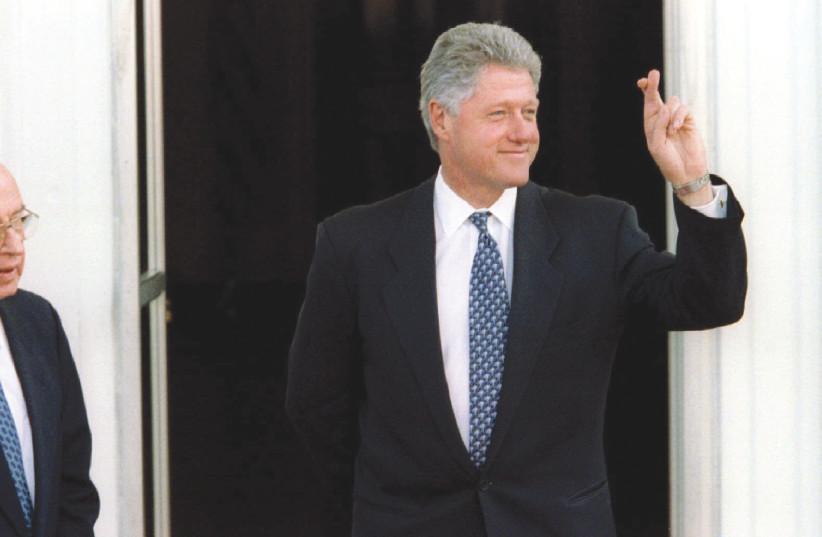 US PRESIDENT Bill Clinton and Yitzhak Rabin in 1995. (photo credit: REUTERS)