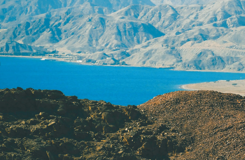 The coast of the Red Sea from southern Eilat. (photo credit: MEITAL SHARABI)