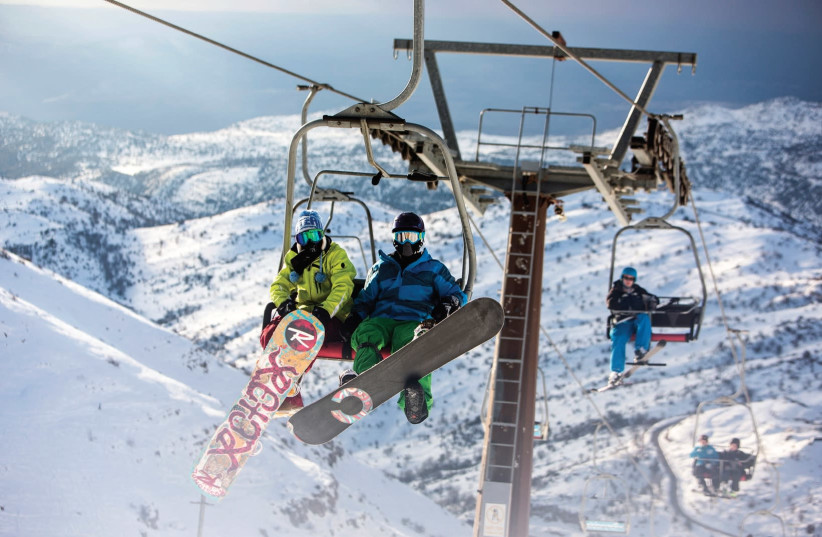 Welcome to Mount Hermon, Israel's only ski mountain.