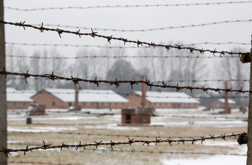 Birkenau concentration camp in Poland in the snow (photo credit: MARC ISRAEL SELLEM/THE JERUSALEM POST)